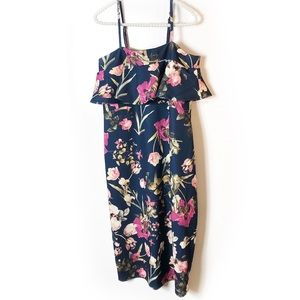 Asos floral midi dress Sz 8